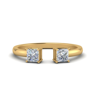 Negative Space Gold Princess Ring