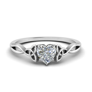 Single Heart Shaped Diamond Ring