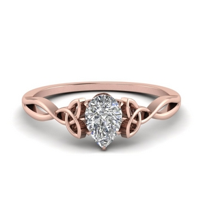 Pear Shaped Diamond Twisted Ring
