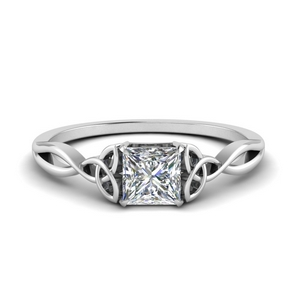 Irish Split Single Diamond Ring