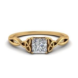 Irish Split Solitaire Ring