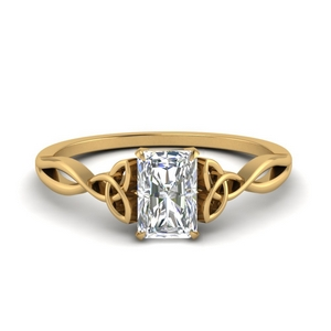 Irish Split Gold Solitaire Ring