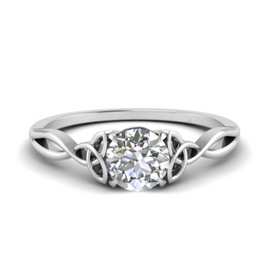 Round Diamond Irish Split Ring