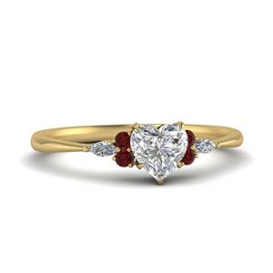 Heart Shaped Moissanite Ring