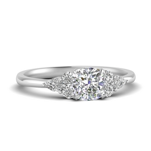 Cushion Cut Accented Diamond Ring