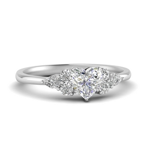 Pear Accented Engagement Ring