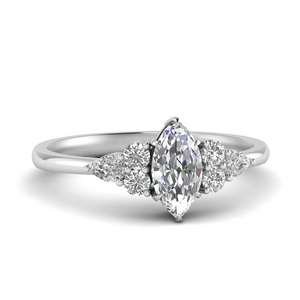 Pear Accented Moissanite Ring