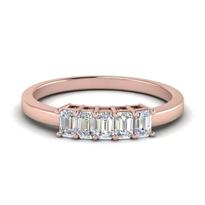5 Stone Baguette Wedding Band