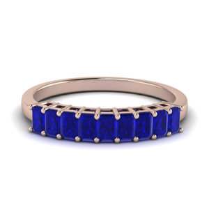 9 Stone Sapphire Baguette Ring