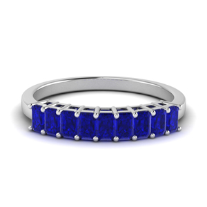 Sapphire 9 Stone Baguette Ring