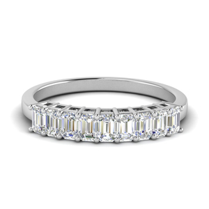 9 Stone Platinum Wedding Band