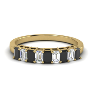 18K Yellow Gold Black Onyx Band