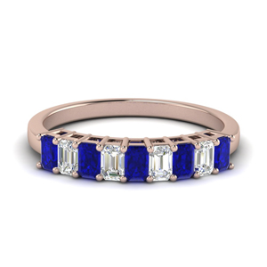 Sapphire Baguette Anniversary Band