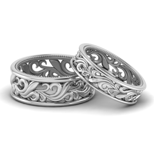 Filigree Wide Band For Couples