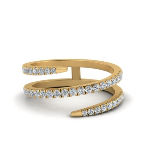 Spiral Diamond Ring For Women