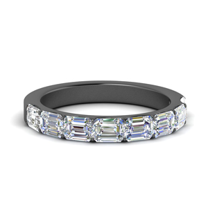 Black Gold Half Eternity Band