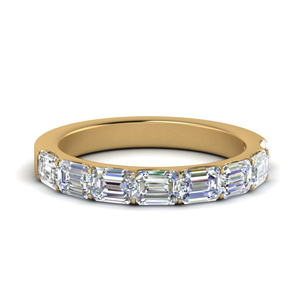 East West Half Eternity Band