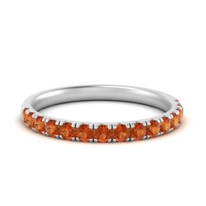 Simple Orange Sapphire Band