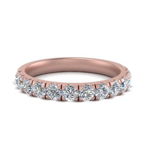 French Pave Wedding Ring 1 Carat