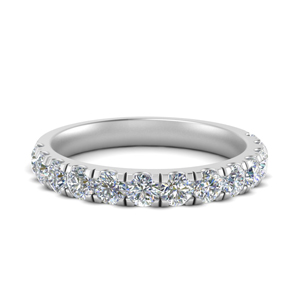 Platinum Pave Wedding Bands