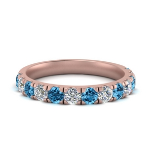 French Pave With Topaz Band