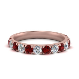 One Carat Ruby Women Band