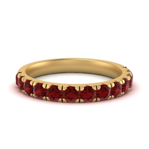 Scalloped Ruby Wedding Ring