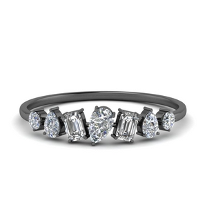 Beautiful Diamond Black Gold Band
