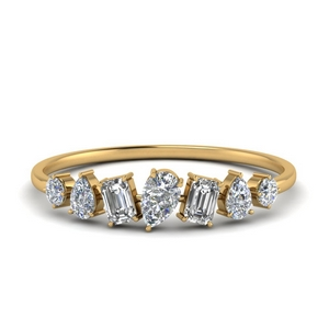 Fancy Shaped Diamond Band