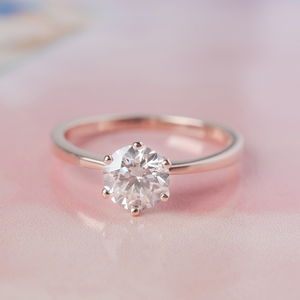 Lab Grown Solitaire Diamond Rings