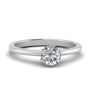 Six Prong Solitaire Moissanite Ring