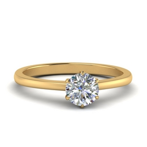Classic Six Prong Moissanite Solitaire Ring