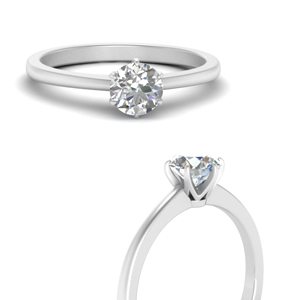 Man Made Six Prong Solitaire Ring