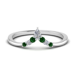 v-shaped-pear-and-round-diamond-wedding-band-with-emerald-in-FD9335BGEMGR-NL-WG