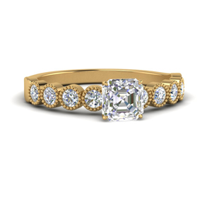 Asscher Cut Vintage Engagement Rings
