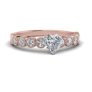 Heart Cut Moissanite Rings