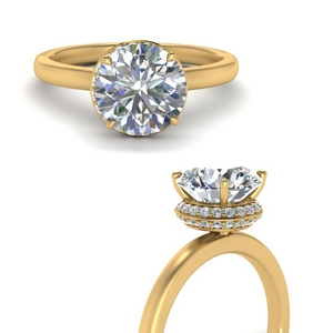 Under Halo Diamond Rings