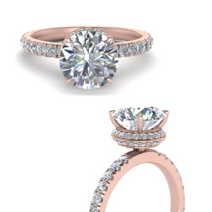 Anniversary Rings With Round Halo