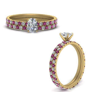 Diamond Eternity Wedding Set