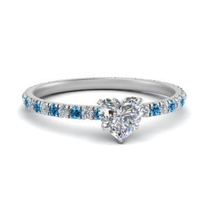 Blue Topaz And Diamond Eternity Ring