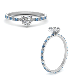 French Pave Eternity Engagement Ring