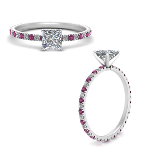 french-pave-princess-cut-diamond-eternity-engagement-ring-with-pink-sapphire-in-FD9341PRRGSADRPIANGLE3-NL-WG