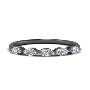 18K Black Gold Marquise Diamond Band