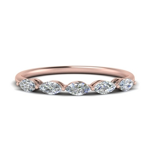 Thin Marquise Diamond Band