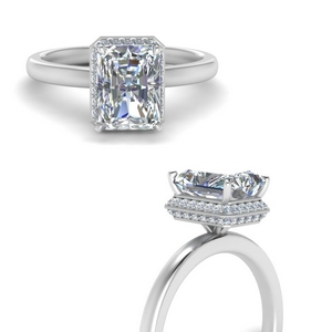 Pave Wrap Halo Diamond Ring