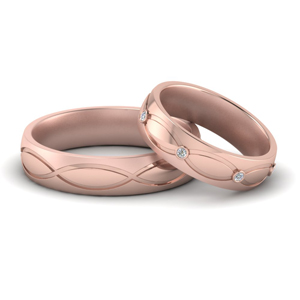 Infinity Design His & Hers Matching Band
