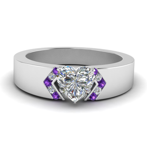 Heart Diamond Thick Band