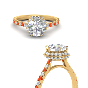 18K Yellow Gold Petite Engagement Ring
