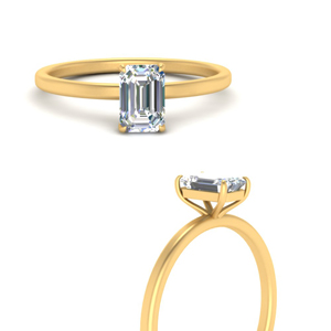Thin Classic Diamond Solitaire Ring