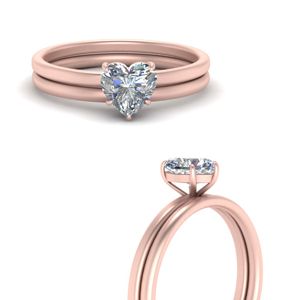 Solitaire Ring With Plain Band